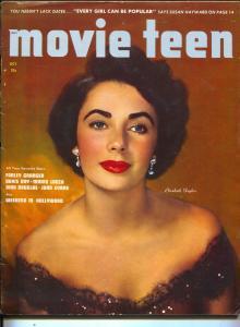 Movie Teen-Elizabeth Taylor-Farley Granger-Doris Day-Kirk Douglas-Oct-1950