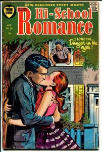 Hi-School Romance #38 1955-Harvey-Lip lock cover-spicy stories-VG