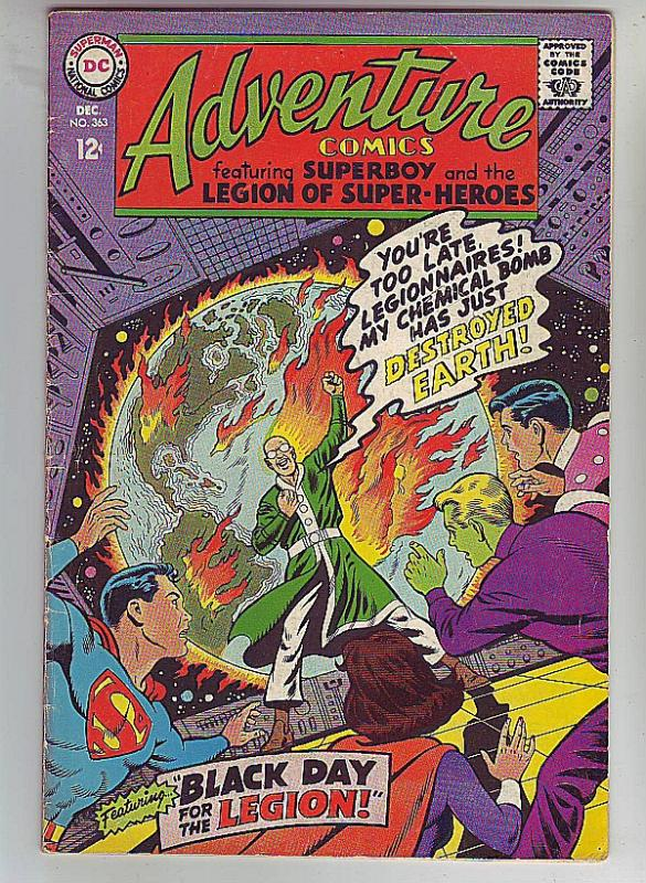 Adventure Comics #363 (Dec-67) FN/VF Mid-High-Grade Legion of Super-Heroes, S...