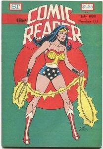 The Comic Reader Fanzine #181 Street Enterprises 1980 Austin Wonder Woman Cover