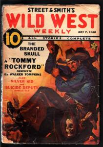 WILD WEST WEEKLY 5/7/1938-WESTERN PULP-SKULL COVER G/VG