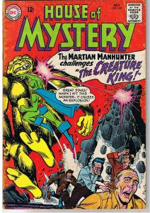 HOUSE OF MYSTERY 152, VG, J'onn J'onzz,  Mars, Floating Man, more HOM in store