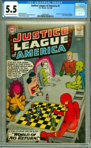 Justice League of America #1 (CGC 5.5) C-O/W pages; 1st app. Despero
