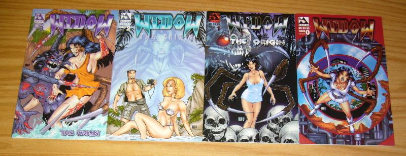 Widow: the Origin #1-3 VF/NM complete series + one-shot #0 mike wolfer bad girl