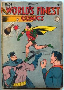 World's Finest Comics #24 1945- Green Arrow- Superman- Batman VG