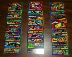 1993 Marvel Famous Battles 33 Trading Card Lot