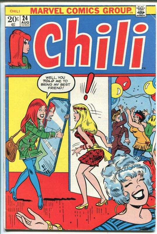 CHILI  #24 1973-MARVEL-MILLIE THE MODEL-FASHIONS-SPICY-GOOD GIRL ART-vg