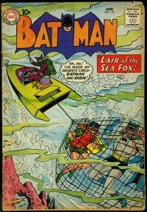 Batman #132 1960- Robin - Scuba cover- Sea Fox DC Silver Age VG