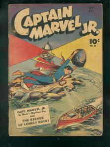 CAPTAIN MARVEL JR. #32 1945-LIGHTHOUSE COVER BY M RABOY G/VG