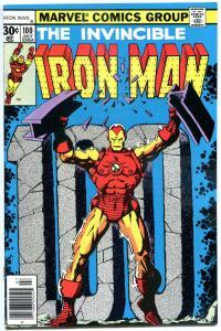 IRON MAN #100, VF, Tony Stark, Jim Starlin, vs Mandarin 1968, more in store