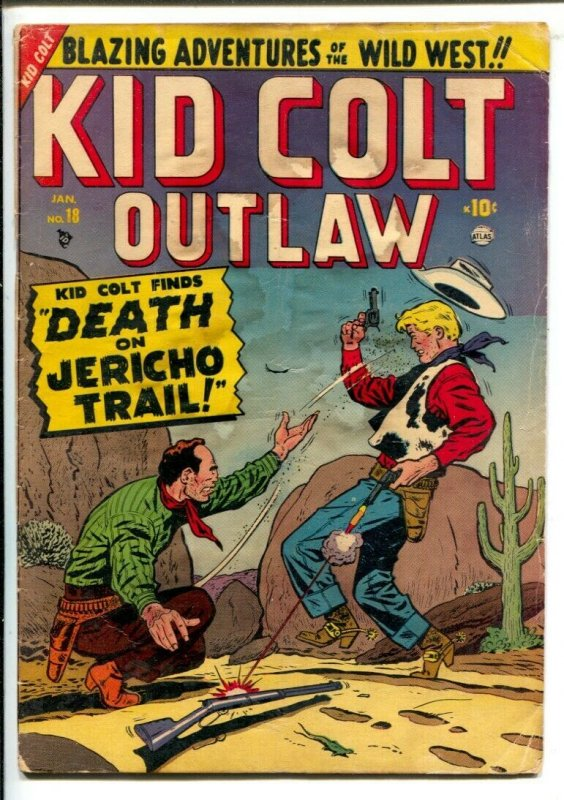 Kid Colt Outlaw #18 1952-Atlas-Early issue with Pete Tomlinson art.-Curse of ...