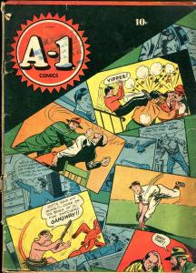 A-1 #1 1944-ME-1st issue-Mr X-Lew Loyal-Rocky-G-