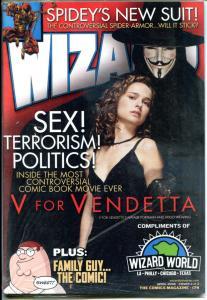 WIZARD #174, NM, V for Vendetta, Anonymous, Natalie Portman, Sealed, 2006