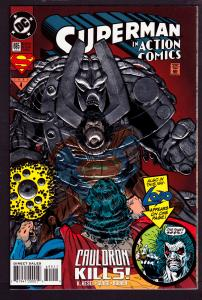 Action Comics #695  Embossed Cover  9.0 VF/NM