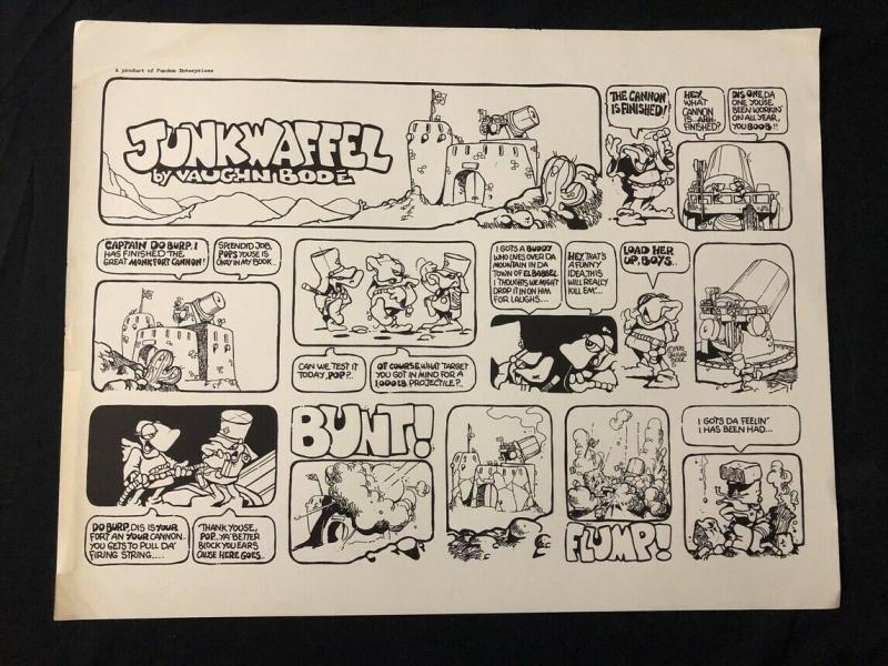 Junkwaffel By Vaughn Bode 22x17 Poster underground comix