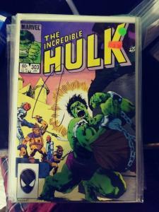 Incredible Hulk  # 303 1984 Marvel crossroads monster hulk mystical  demon ?