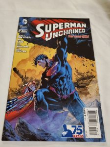 Superman Unchained 2 Near Mint Cover by Jim Lee