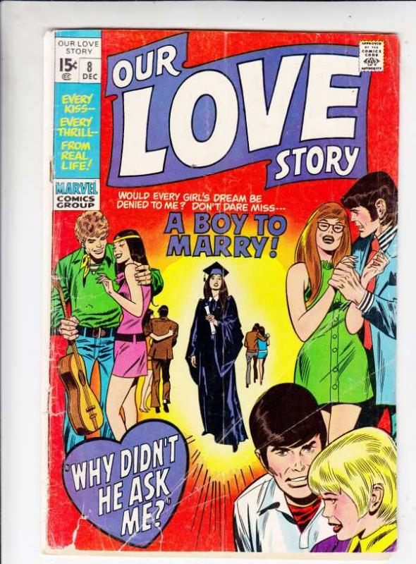 Our Love Story #8 (Dec-70) VG Affordable-Grade