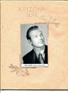 Arizona Sun - Rex Allen Fan Club Magazine February 1953-B-WESTERNS-MIMEO-vg
