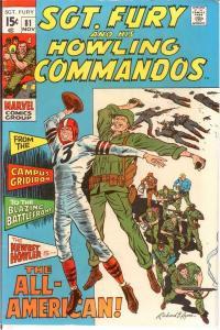 SERGEANT FURY 81 VF-NM Nov. 1970 COMICS BOOK