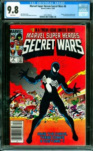 Marvel Super Heroes Secret Wars #8 CGC Graded 9.8 Origin of the alien symbiot...