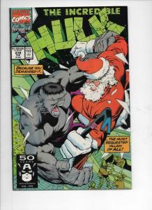 Incredible HULK #378, VF+, Bruce Banner, 1968 1991, more Marvel in store, Santa