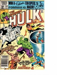Incredible Hulk ( 1968 ) 265 Very Fine - (7.5)