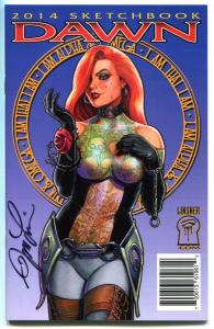DAWN SKETCHBOOK 2014, NM, Joseph Linsner, Signed, Ashcan size, more in store