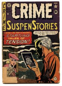 Crime Suspenstories #1 1950- EC Golden Age First issue-Wood