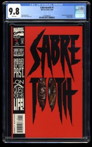 Sabretooth #1 CGC NM/M 9.8 White Pages