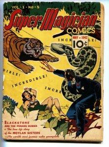 Super Magician #5-GGA cover-Tiger vs. Snake comic book