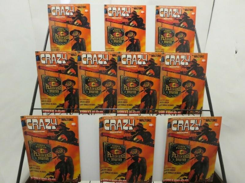 CRAZY 3  Archie Bunker,  Eastwood (1973) VF-NM x 10 cop