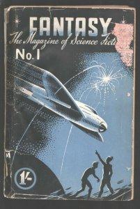 Fantasy-The Magazine of Science Fiction #1 12/1946--Rare British pulp publica...