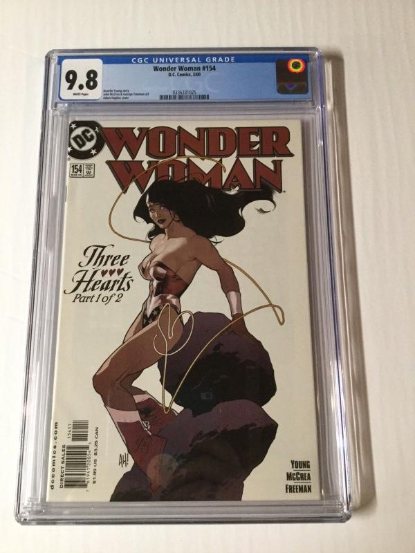 Wonder Woman 154 Cgc 9.8 White Pages Adam Hughes Cover