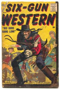 Six-Gun Western #2 1957- Maneely- Atlas comics VG-
