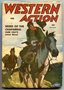 Western Action Pulp February 1946- Clem Colt FN+