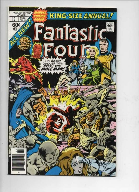 FANTASTIC FOUR #13 Annual, VF+, Mole Man,1961 1978, Marvel