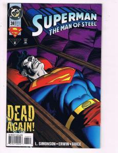Superman The Man Of Steel #38 VF DC Comics Comic Book Simonson DE19