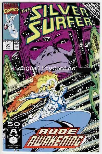 SILVER SURFER #51, NM+, Thanos, Ron Lim, Galactus, V 3, more in store