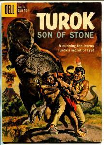 Turok Son Of Stone #18 1959-Dell-pre-historic Indians-dinosaur-VG