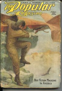 Popular 4/20/1922-Street& Smith-aviation crash cover-pulp thrills-VG-