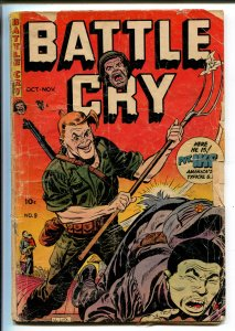 BATTLE CRY #9 1953-STANMOR-A C HELLINGSWORTH-PVT IKE-fr