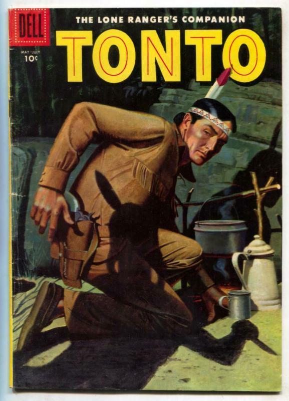 Tonto #23 1956-Dell Western-Lone Ranger's companion FN+