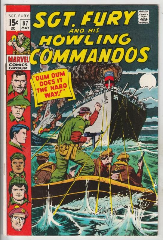 Sgt. Fury and His Howling Commandos #87 (May-71) FN/VF High-Grade Sgt. Fury, ...