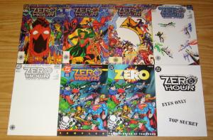Zero Hour #0 & 1-4 VF/NM complete series + ashcan + sampler + beginning tomorrow