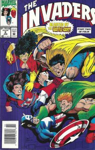 The Invaders #2 of 4 (6-93) - Blazing Skull, Captain America, Human Torch