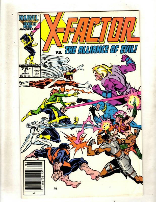 X-Factor # 5 VF Marvel Comic Book 1st Apocalypse Cameo Appearance X-Men Key WS9