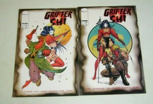 Grifter/Shi #1-2 VF complete series JIM LEE travis charest bad girl image