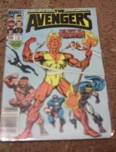 Avengers # 258 (Aug 1985, Marvel) firelord spiderman BLACK COSTUME