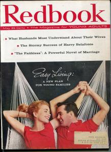 REDBOOK 5/1958- PULP FICTION-JOHN D MACDONALD-HARRY BELAFONTE-vg/fn